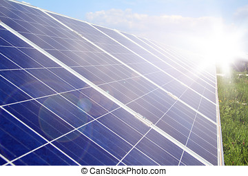 solar panel power production green economy