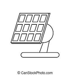 solar panel renewable energy alternative pictograph