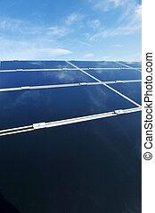 solar panel renewable energy field