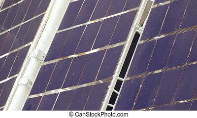 Solar panel satellite