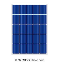 Solar panel sign isolated on white background
