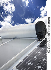 solar panel - solar hot wate panels and electricity panels