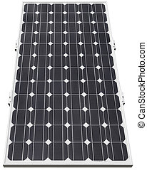 Solar panel - Solar photovoltaic cell isolated with clipping...