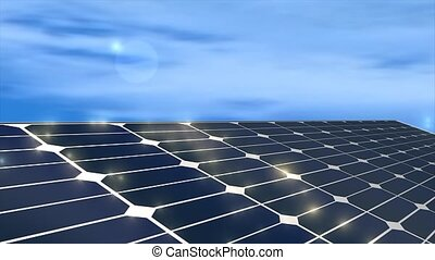Solar panel - Solar power panel, concept animation.