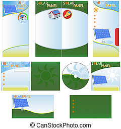Solar Panel Stationary - brochure design, CD cover design...