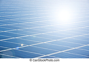 solar panel - A photography of a blue solar panel
