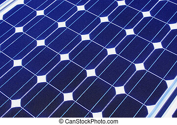 solar panel - alternative power source a blue solar panel