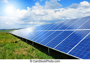 Solar panel produces green, enviromentaly friendly energy...