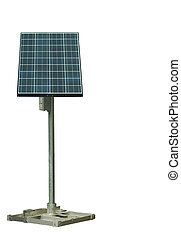 solar panel - A solar panel against a white background