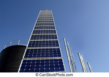 Solar panel at an industrial plant