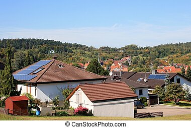 Solar Panel - This image shows a scenery with solar panel