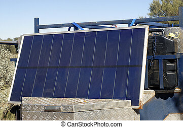 solar panel to produce its electricity in the Australian desert