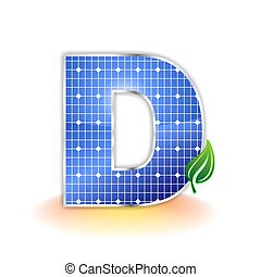 solar panel uppercase letter D - solar panels texture icon ...