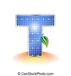solar panel uppercase letter T - solar panels texture icon...
