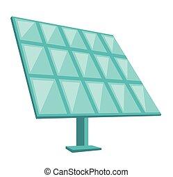 Solar panel vector cartoon illustration.