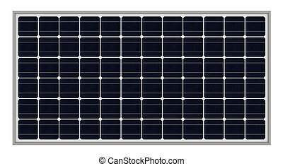 Solar panels - 3d render of solar panels isolated over white...
