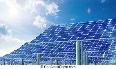 Solar Panels and Sun.