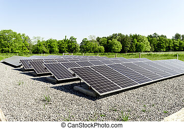 Solar Panels Cades Cove Tennessee - A large group of solar...