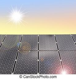 solar panels - illustration of solar panels