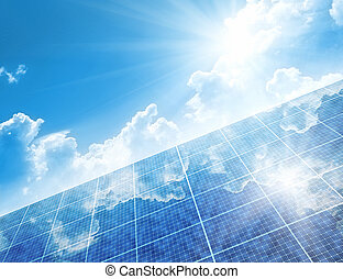 solar panels - A photography of a solar panels background