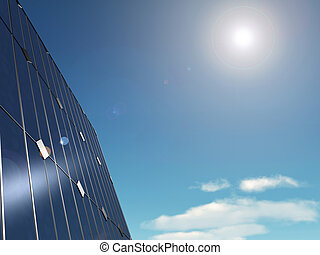 solar panels - 3d rendered illustration of some solar panels