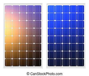 solar panels, 3d