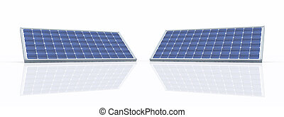Solar panels - Computer generated 3D illustration with solar...