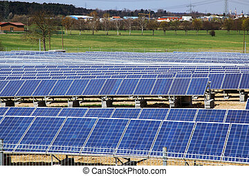 Solar panels for power production