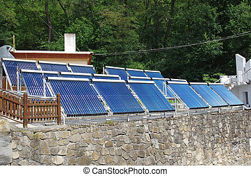 Solar panels for warm water