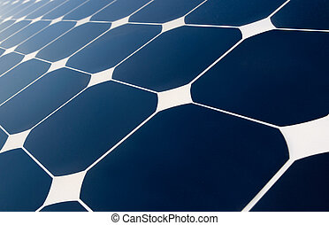 close view of solar panel characteristic design