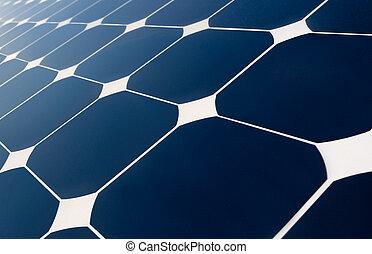 solar panel's geometry - close view of solar panel...