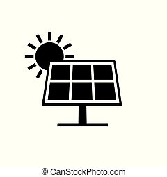 solar panels icon- vector illustration