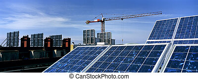 Solar Panels in a construction...