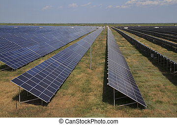 Solar Panels in a Row