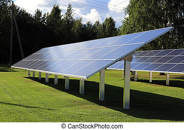 Solar Panels in Late Afternoon