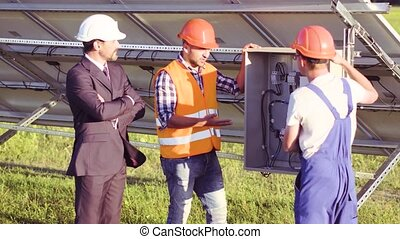 Solar panels installation - Business client and two...