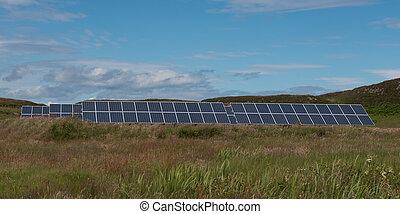 Solar panels, Isle of Muck - Solar Panels, Isle of Muck
