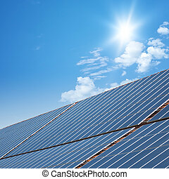 solar panels - nice solar planels with blue sunny sky...