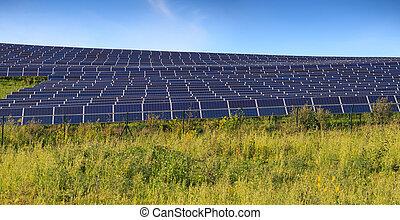 Solar panels of photovoltaic modules