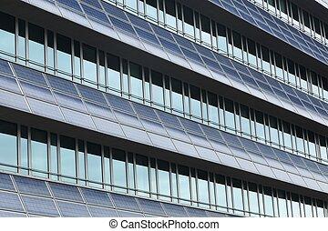 Solar panels on a wall