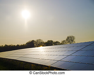 Solar Panels on sunset