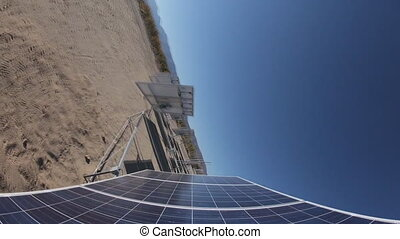 solar panels on the move (time-lapse)