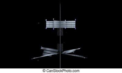 solar panels operate on black background