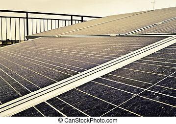 Solar panels.