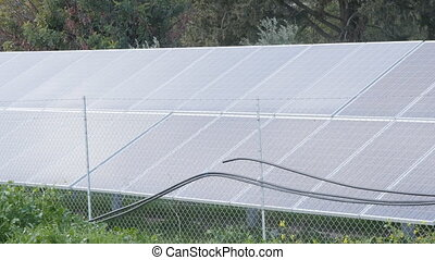 Solar panels. Power engineering concept