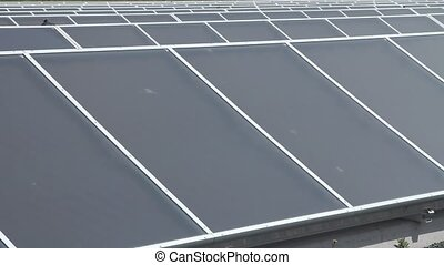 Solar panels power plant.