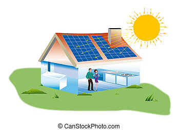Solar panels - real estate purchase a home with solar panels