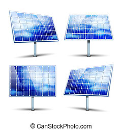 solar panels - Solar panels vector illustration isolated on...