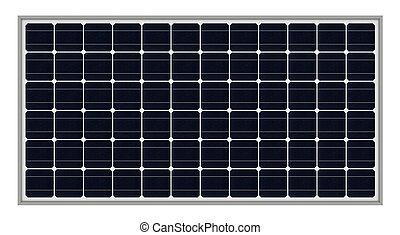 Solar panels - 3d render of solar panels isolated over white...