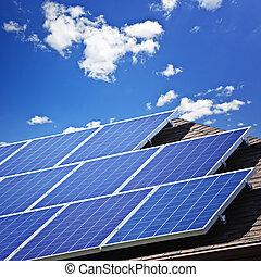 Solar panels - Array of alternative energy photovoltaic...